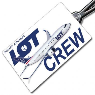 LOT Boeing 737-8 MAX Crew Tag